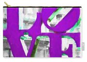 Love Philadelphia Purple Digital Art Carry-all Pouch