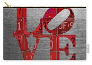Love Sign Philadelphia Recycled Red Vintage License Plates On Aluminum Sheet Carry-all Pouch