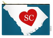 Love South Carolina White Carry-all Pouch