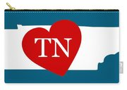 Love Tennessee White Carry-all Pouch