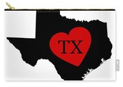 Love Texas Black Carry-all Pouch