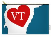 Love Vermont White Carry-all Pouch