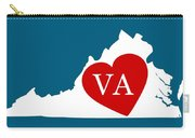 Love Virginia White Carry-all Pouch