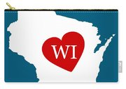 Love Wisconsin White Carry-all Pouch