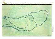 Lovebirds On Green Carry-all Pouch