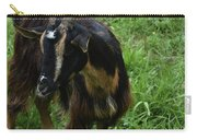 Lovely Billy Goat With Silky Black And Brown Fur Carry-all Pouch