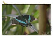 Lovely Blue And Black Emerald Swallowtail Buterfly Carry-all Pouch