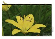 Lovely Close Up Of A Yellow Lily In Full Bloom Carry-all Pouch