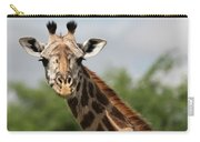 Lovely Giraffe In Tarangire - Square Format Carry-all Pouch