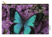 Lovely Green Winged Butterffly Carry-all Pouch