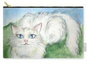 Lovely Kitty. White Cat Kusyaka Carry-all Pouch