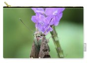 Lovely Moth On Dainty Flower Carry-all Pouch