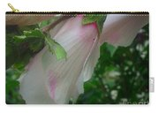 Lovely White And Pink Flowers Carry-all Pouch