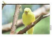 Lovely Yellow Budgie Parakeet In The Wild Carry-all Pouch