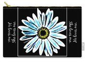 Loves Me In Blue Carry-all Pouch