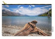 Low Angle View From The Rocky Dart River Bank At Kinloch, Nz Carry-all Pouch