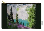 Lower Blue Lake Summer Portrait Carry-all Pouch by Cascade Colors