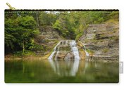 Lower Falls Reflection Of Enfield Glen Carry-all Pouch