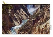 Lower Yellowstone Falls And River Carry-all Pouch