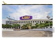 Lsu Tiger Stadium Carry-all Pouch by Scott Pellegrin