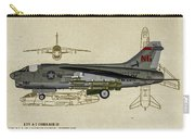 Ltv A-7 Corsair II - Profile Art Carry-all Pouch