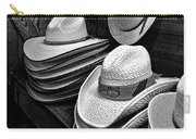 Luckenbach Hats Black And White Carry-all Pouch