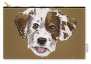 Lucky Brown Mixed Breed Carry-all Pouch