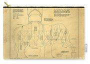 Lucy The Elephant Building Patent Blueprint  Carry-all Pouch