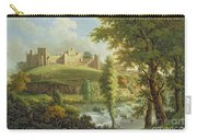 Ludlow Castle With Dinham Weir Carry-all Pouch by Samuel Scott