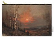 Ludwig Deutsch, Hunting In The Winter Carry-all Pouch