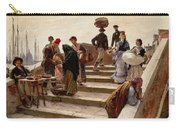 Ludwig Johann Passini - A Busy Bridge In Venice 1876 Carry-all Pouch