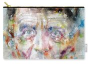 Ludwig Wittgenstein - Watercolor Portrait.2 Carry-all Pouch