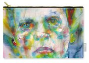 Ludwig Wittgenstein - Watercolor Portrait.3 Carry-all Pouch