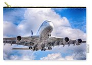 Lufthansa Airbus A380 In Hdr Carry-all Pouch