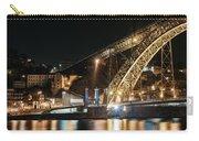Bridge Dom Luis At Night. Porto Carry-all Pouch