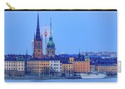 Lunar Teamwork Full Moon Rising Over Gamla Stan In Stockholm Carry-all Pouch