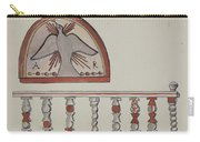 Lunette From Altar-church At Llano Quemado Altar Rail-church At Sanctuario, Chimayo Carry-all Pouch