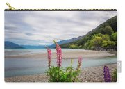 Lupin Flowers In Alpine Scenery At Kinloch, Nz. Carry-all Pouch