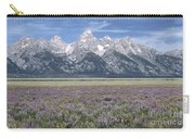 Lupine And Grand Tetons Carry-all Pouch by Sandra Bronstein