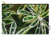 Lupine Leaves Decorated With Dew Drops Carry-all Pouch