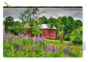 Lupines And The Red Barn Carry-all Pouch