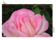 Lustrous Pink Rose Carry-all Pouch