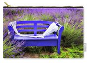 Luvin Lavender Farm Bench Carry-all Pouch