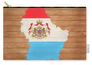 Luxembourg Rustic Map On Wood Carry-all Pouch
