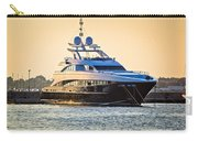 Luxury Yacht On Golen Sunset Carry-all Pouch