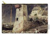 Lynmouth In Devonshire Carry-all Pouch by Myles Birket Foster