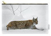 Lynx Hunting In The Snow Carry-all Pouch