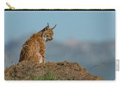 Lynx In Profile On Rock Looking Down Carry-all Pouch
