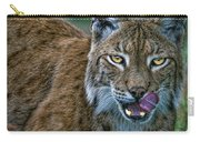 Lynx Licks Lips Carry-all Pouch
