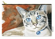 Lynx Point Siamese Cat Painting Carry-all Pouch